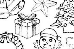 クリスマスイラスト白黒 Hashtag On Twitter