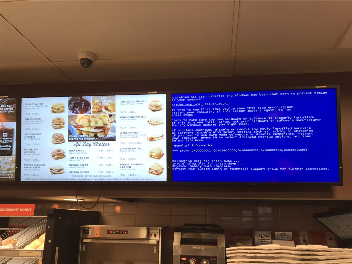 America runs on Dunkin, and Dunkin barely runs on Windows. https://t.co/3sgVcmCVBf