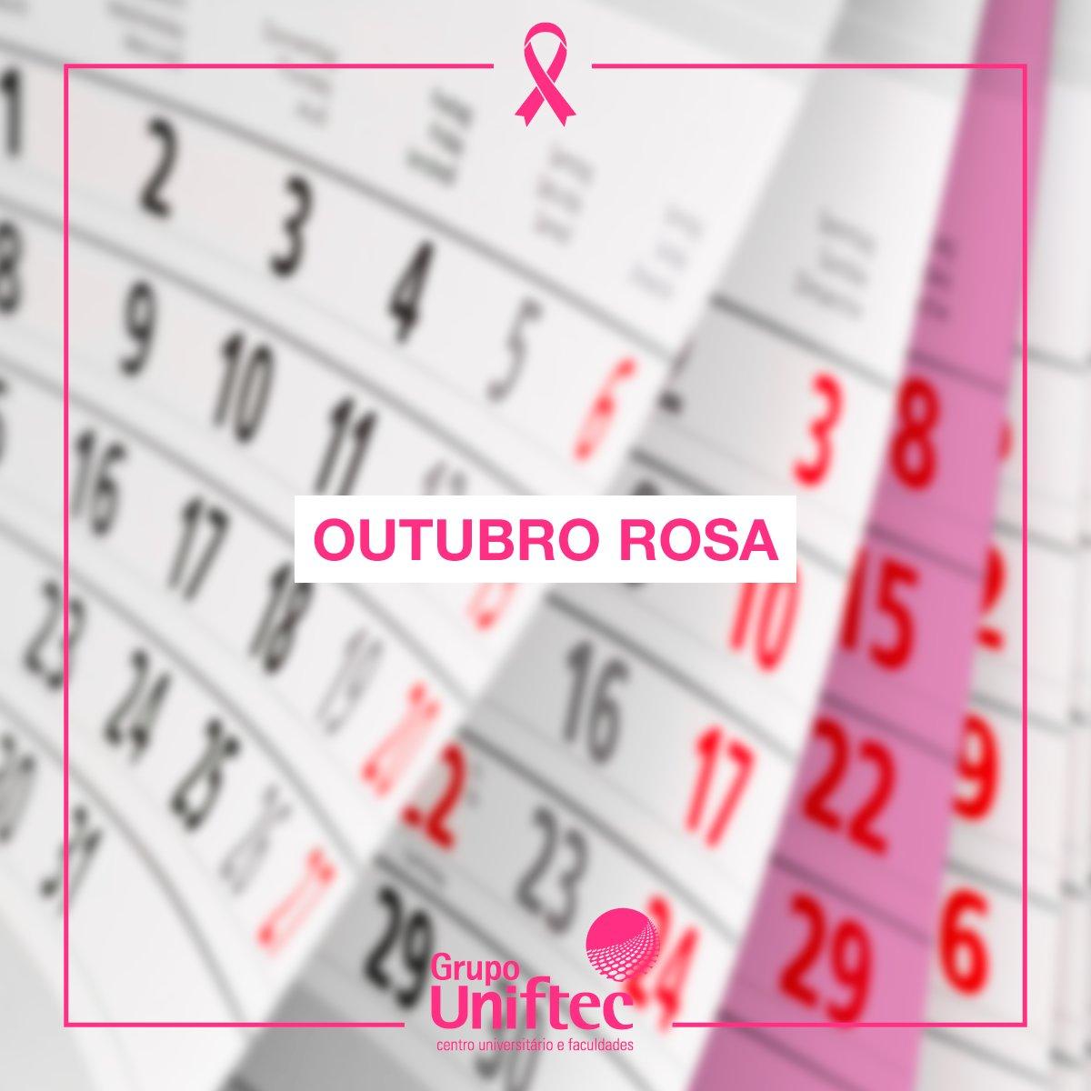 Todos pela conscientização do Outubro Rosa. #CâncerdeMama #OutubroRosa #Conscientização #UniftecCentroUniversitário #FtecFaculdades https://t.co/o06JGnwFk4