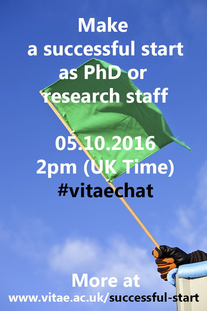 Thumbnail for How to make a successful start as PhD or research staff? #vitaechat