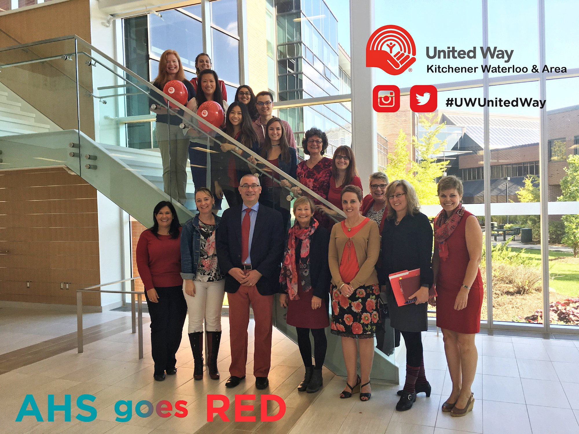 AHS Dean's Office - turning teal red for #UWUnitedWay ! https://t.co/wzItpqU80x