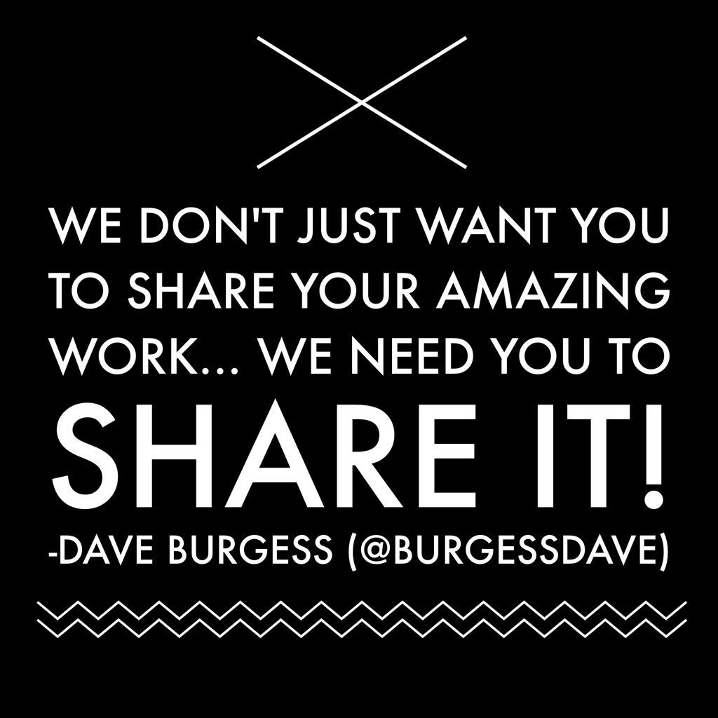 Image result for dave burgess we need you to share