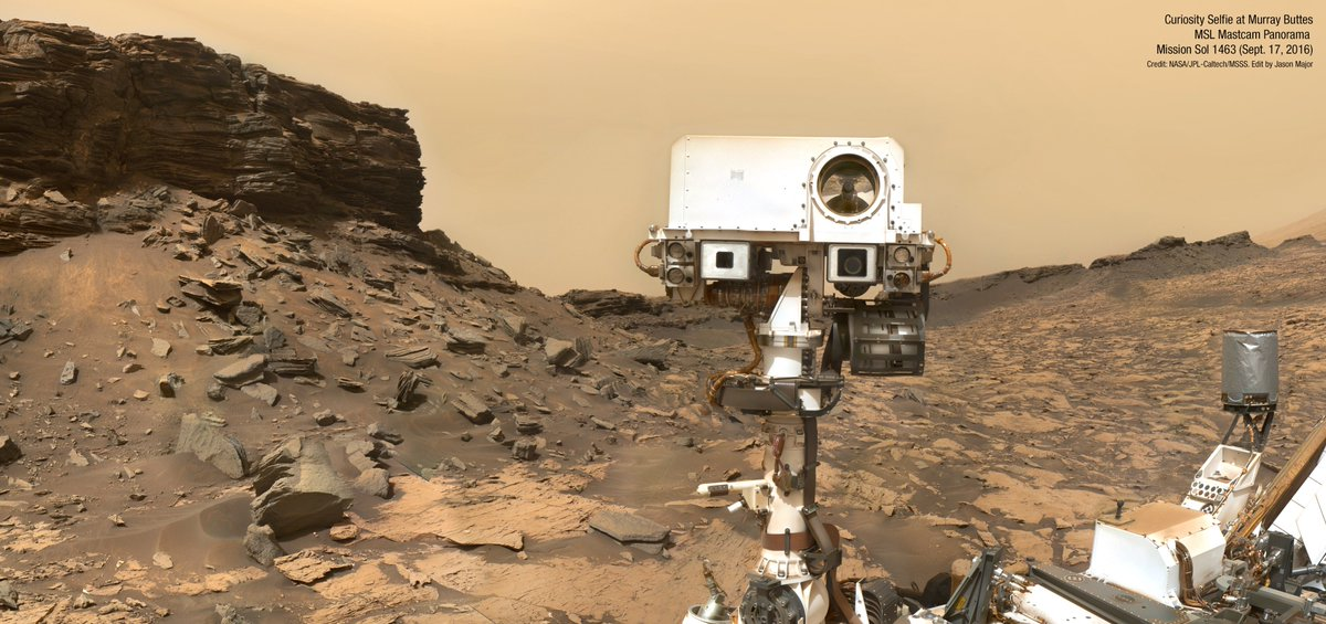 Mars Rover Curiosity takes a final selfie before moving on