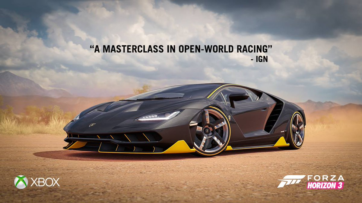 Lamborghini On Twitter The New Forzahorizon3 Has Arrived Try To