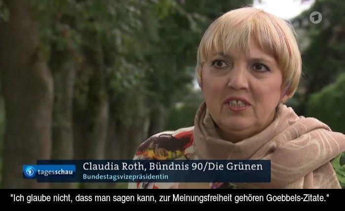 Twitter पर Dokumentor Ard Tagesschau Claudia Roth Will