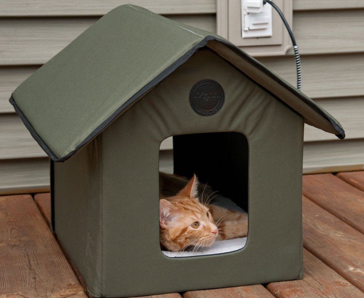 это теплый домик для кошки фото расскажем, как своими