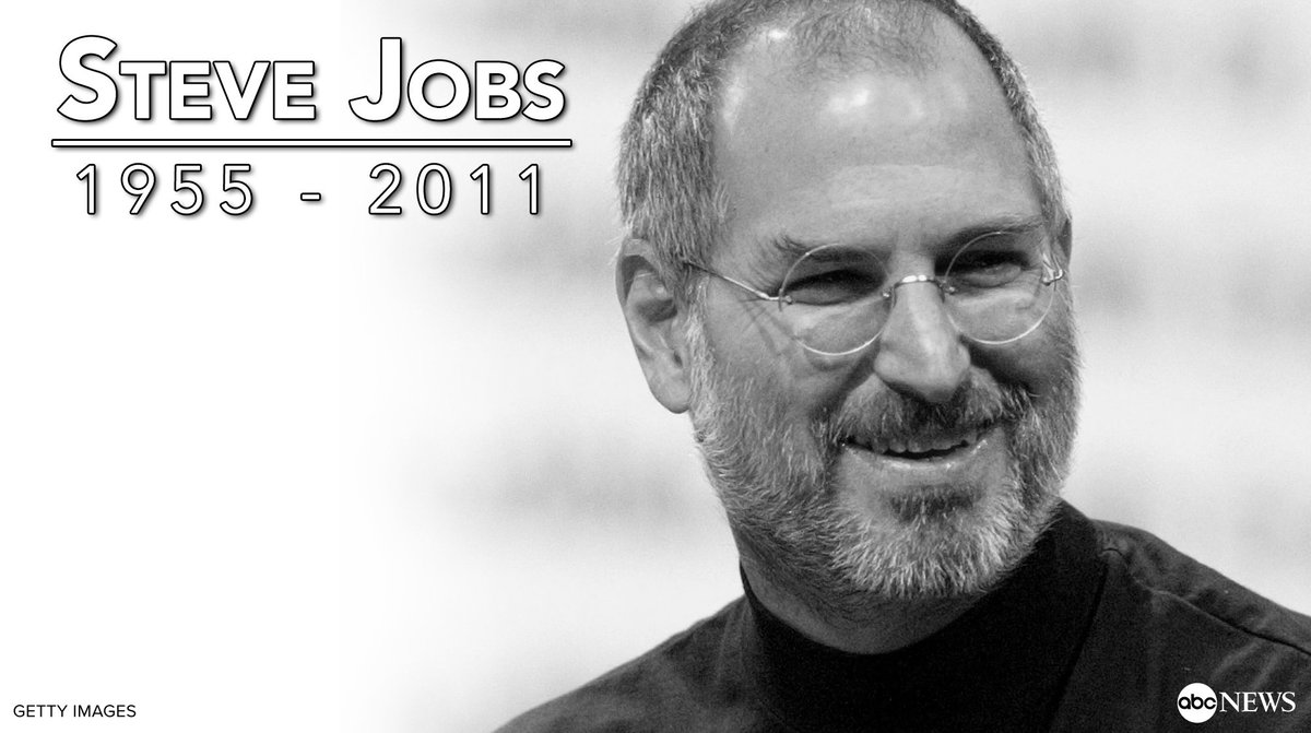 Rest In Peace Steve Jobs >> Good Morning America On Twitter Steve Jobs Passed Away On This Day
