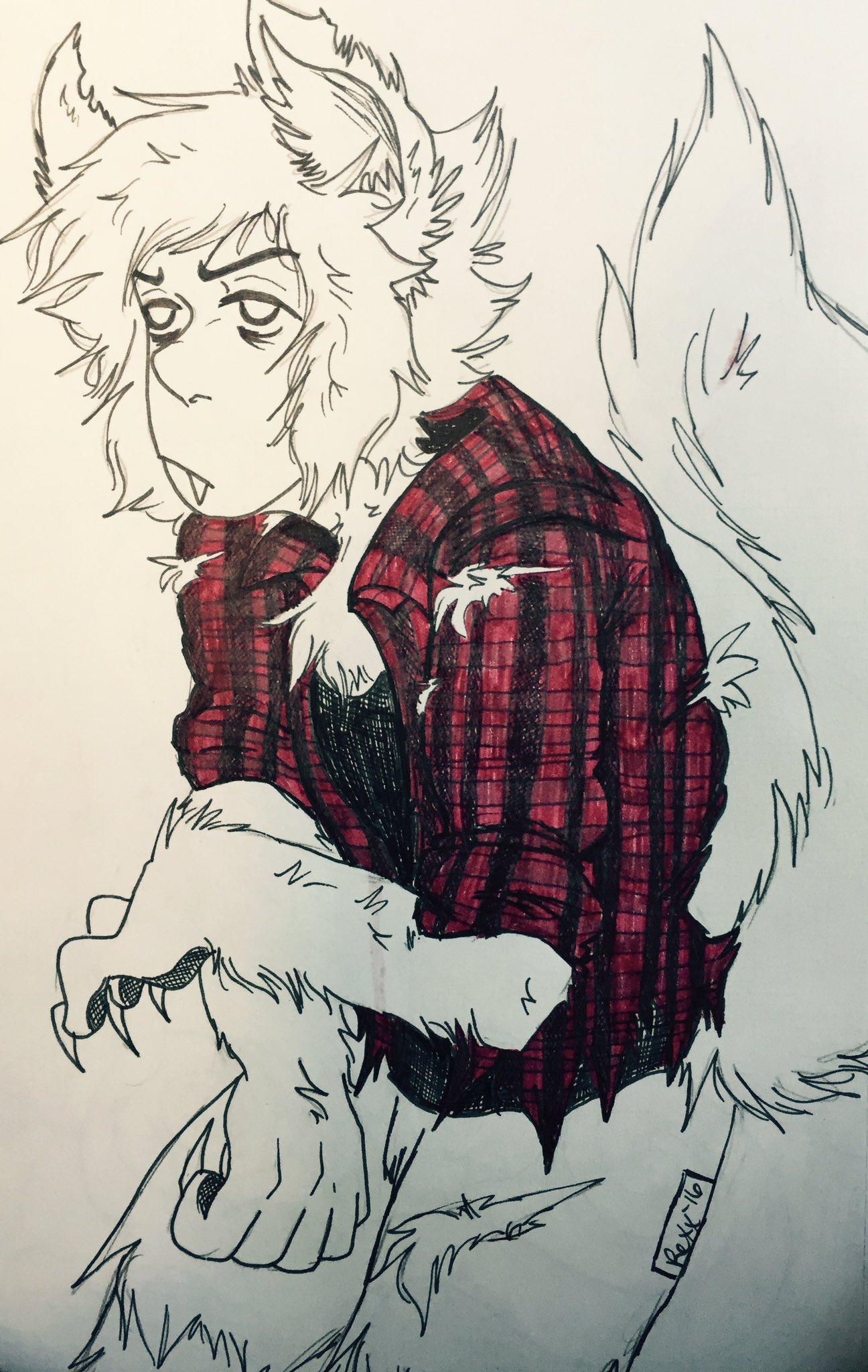 """""""Inktober Day 4: Lapis Werewolfzuli"""""""