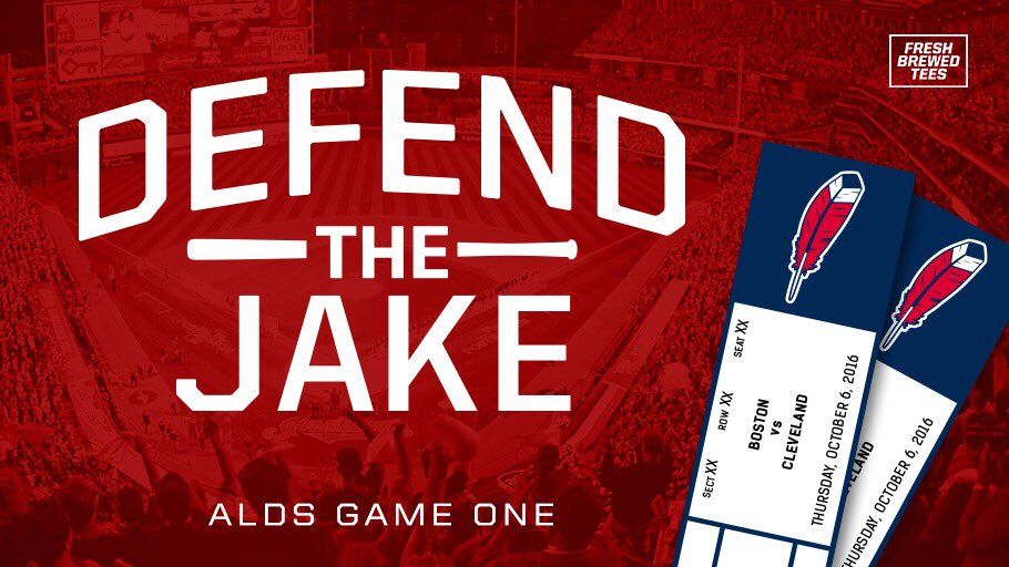 RETWEET & Follow @FreshBrewedTees for a chance to win 2 ALDS game 1 tickets! https://t.co/1X59qzrAEV #DefendTheJake https://t.co/PYR7BjTSLz