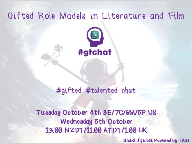 Thumbnail for #gtchat: Gifted Role Models in Literature & Film