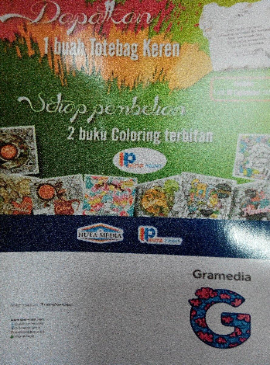Gramedia Cibinong On Twitter Gratis 1 Tote Bag Kern Stiap Pmbelian 2 Coloring Book Terbitn HutaMedia Di C CityMall ColoringBook