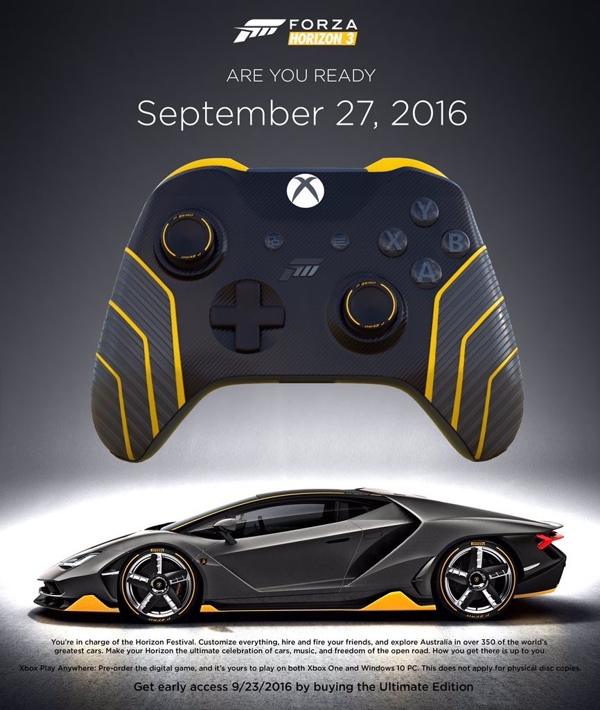 xbox addict on twitter are you ready for forza horizon 3. Black Bedroom Furniture Sets. Home Design Ideas