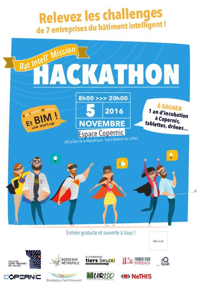 Appel à candidatures pour le #Hackathon #Copernic de @StMedard33160 (5 novembre) https://t.co/VXaDcJFl9b