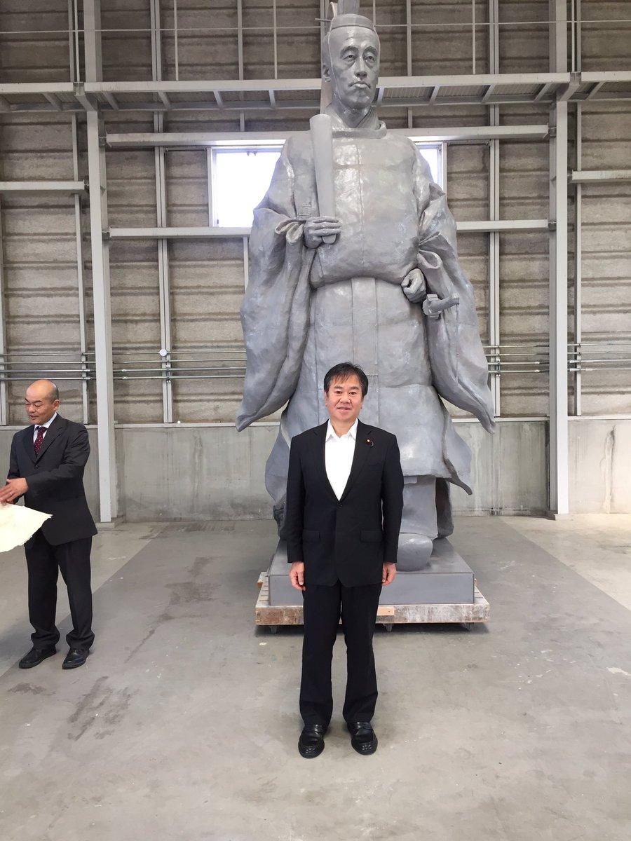 """原口 一博 Twitter'da: """"鍋島直正候の銅像製作の過程で発表会がありま ..."""