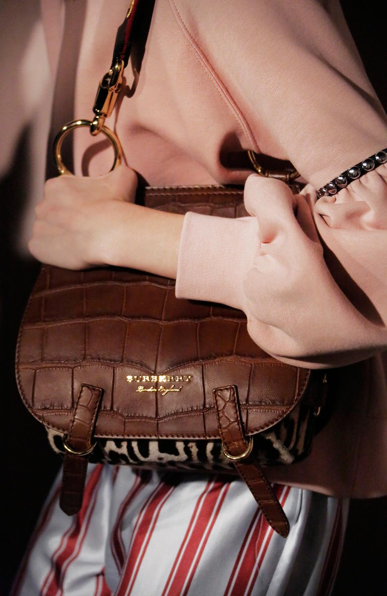 The Bridle Bag – the new runway satchel from  Burberry. Shop the show  a62884eadbe37