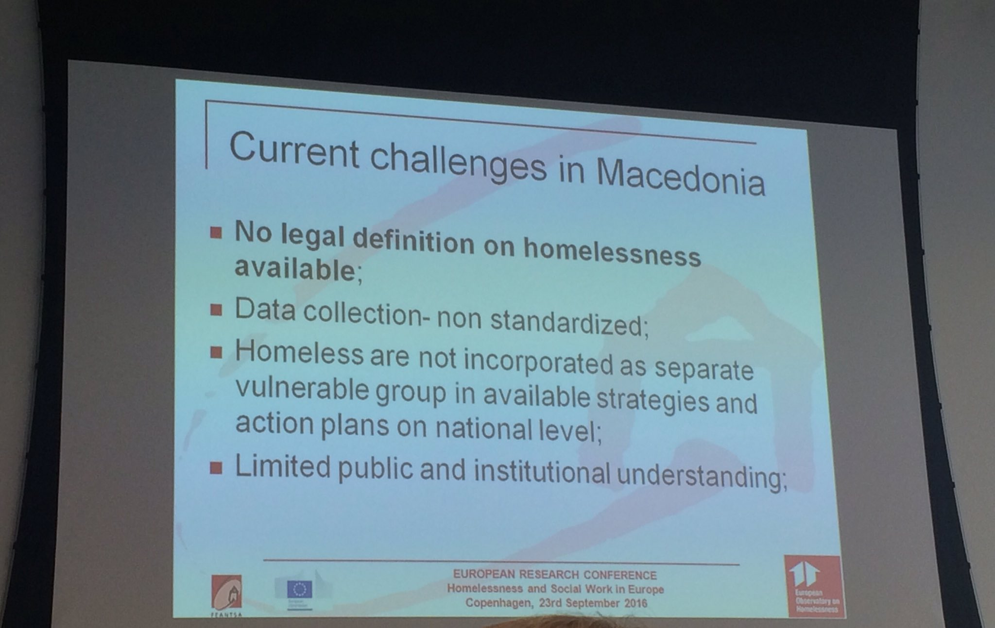 Alexsandra Iloska from Public outlines challenges in tackling homelessness in Macedonia #eoh2016 https://t.co/L5PpdKi48U