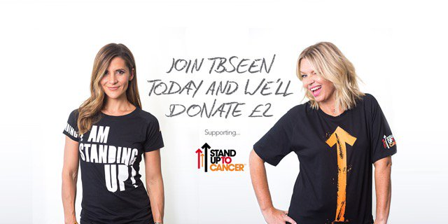 RT @tbseen: Help us beat cancer sooner. Join TBSeen now & we'll donate £2 to @StandUp2C >> https://t.co/YEMChM30Jr https://t.co/1SdaKS9MwD