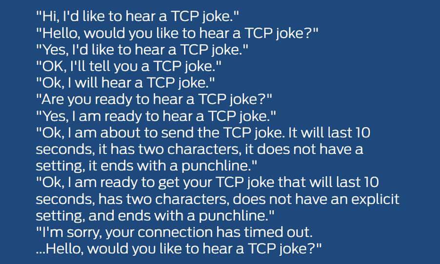 Sander Hoogendoorn On Twitter Would You Like To Hear A Tcp Joke