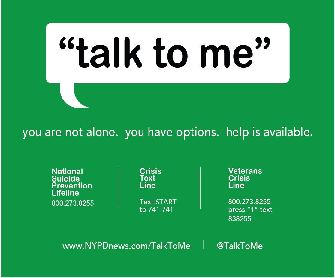 """talk to me on twitter: """"having thoughts of suicide? help is"""