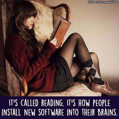 So true! RT @DavidHancock: Reading: It's how software is installed into your brain. https://t.co/xI3ZM0mTay #amwriting