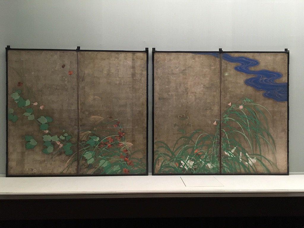 酒井抱一「夏秋草図屏風」@ 東京国立博物館・本館8室。公開はじまりました。10/30まで。https://t.co/HnngVLKtqC https://t.co/3563K0i9wS