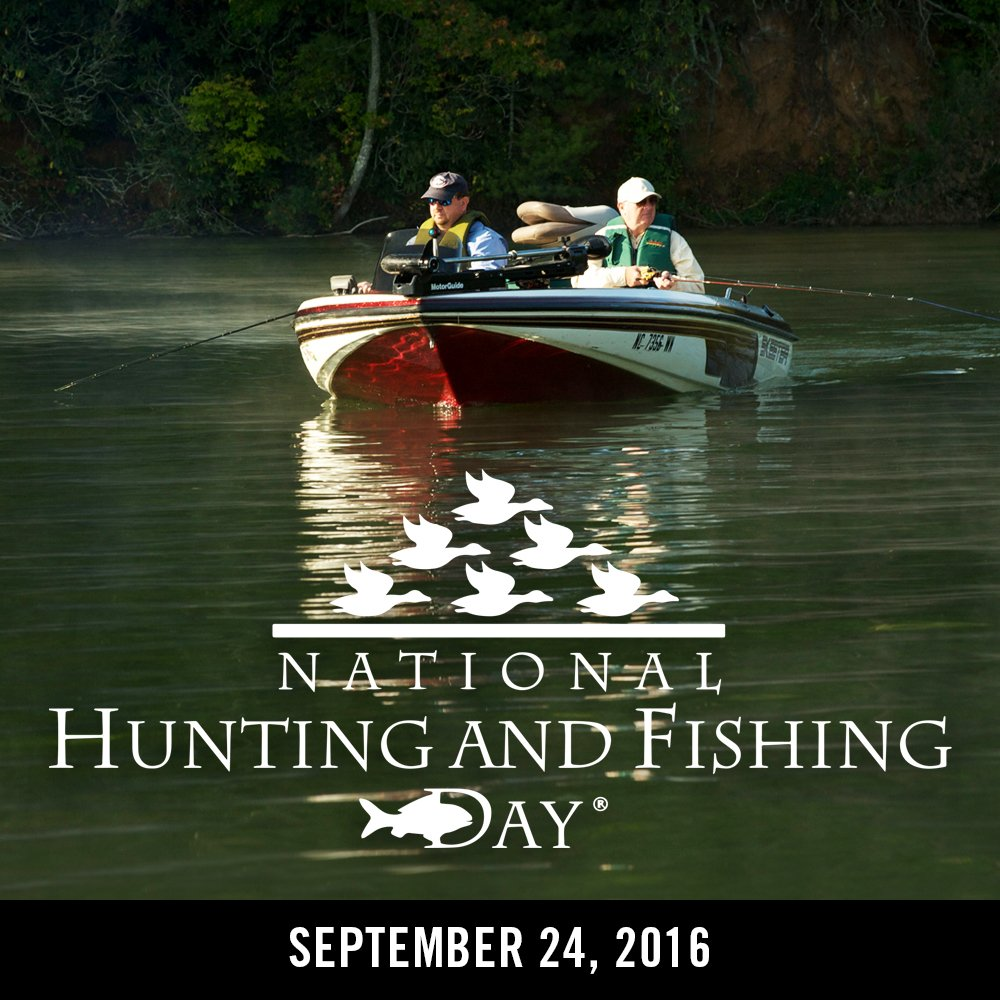 """Happy National Hunting And Fishing Day: N.C. Wildlife On Twitter: """"Tomorrow Is National #Hunting"""
