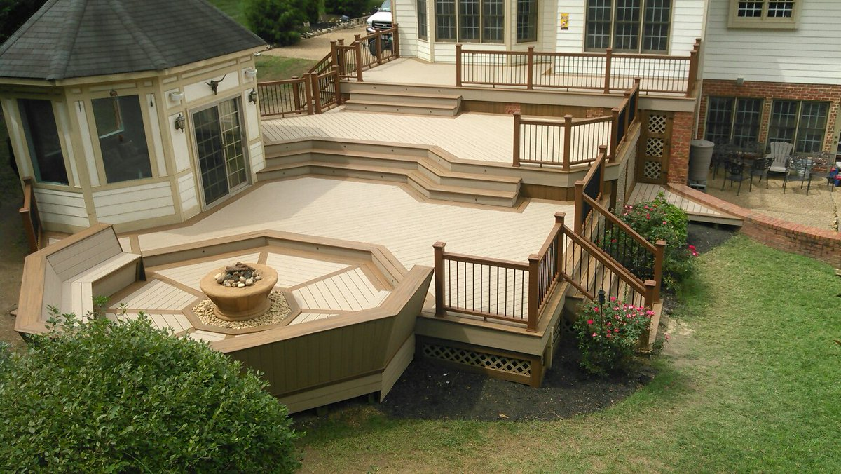 Stairs Off Deck Backyards