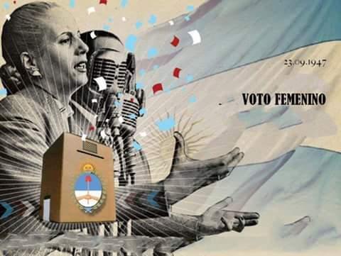 Resultado de imagen para ARGENTINA CELEBRA 70 AÑOS DEL VOTO FEMENINO