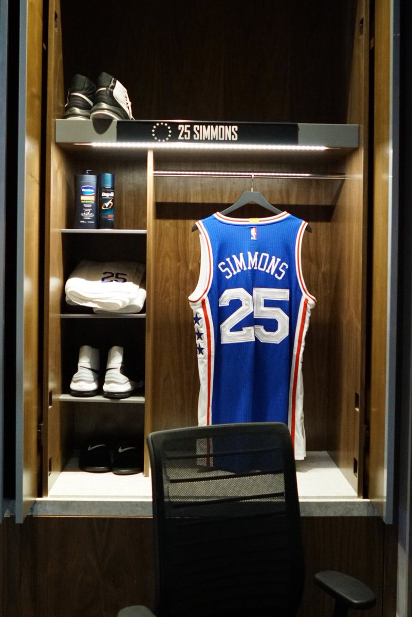 "Philadelphia 76ers on Twitter: ""Peek inside the locker ..."