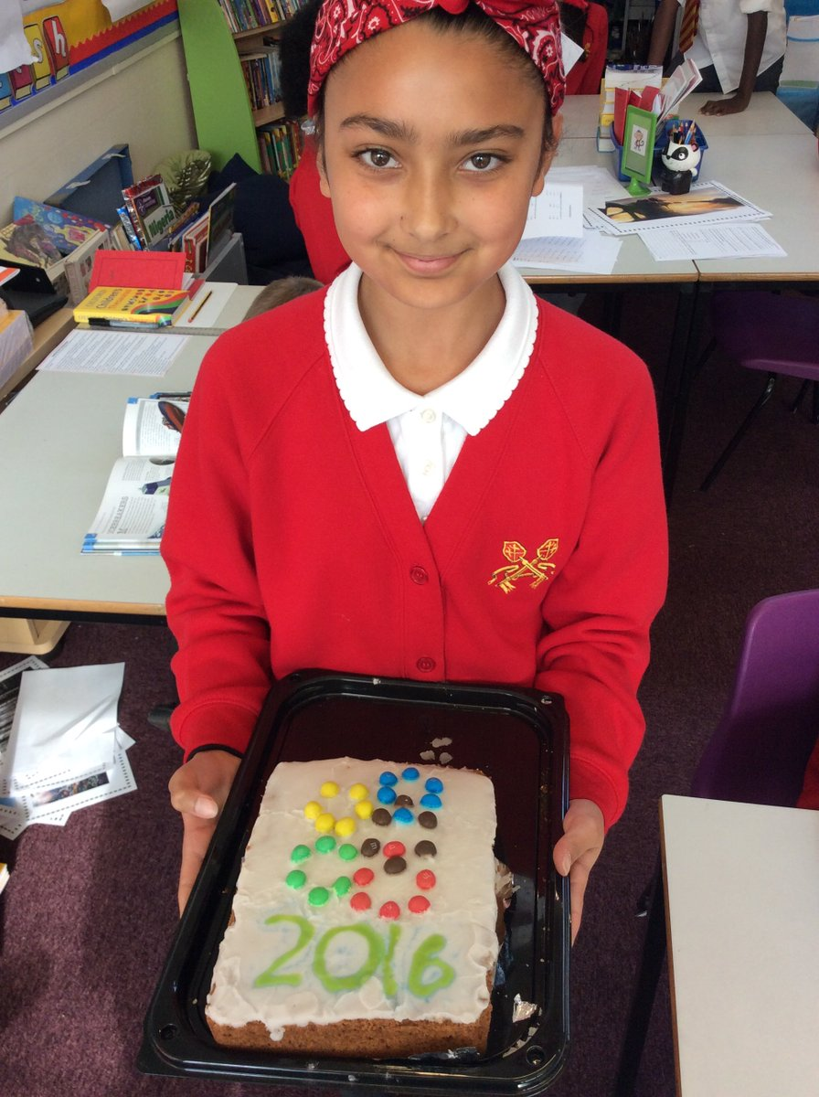 Amazing cookery skills being displayed in Year 6 with Olympic themed cakes!!!