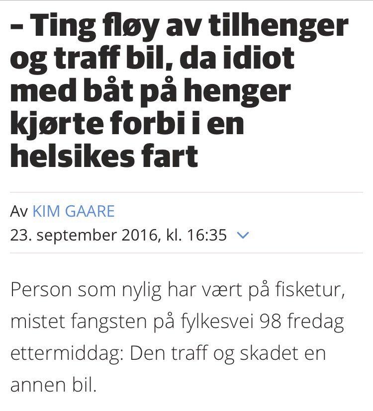 Det skal de ha i Finnmark Dagblad, de tuller ikke med overskriftene. https://t.co/00OthK0sT0