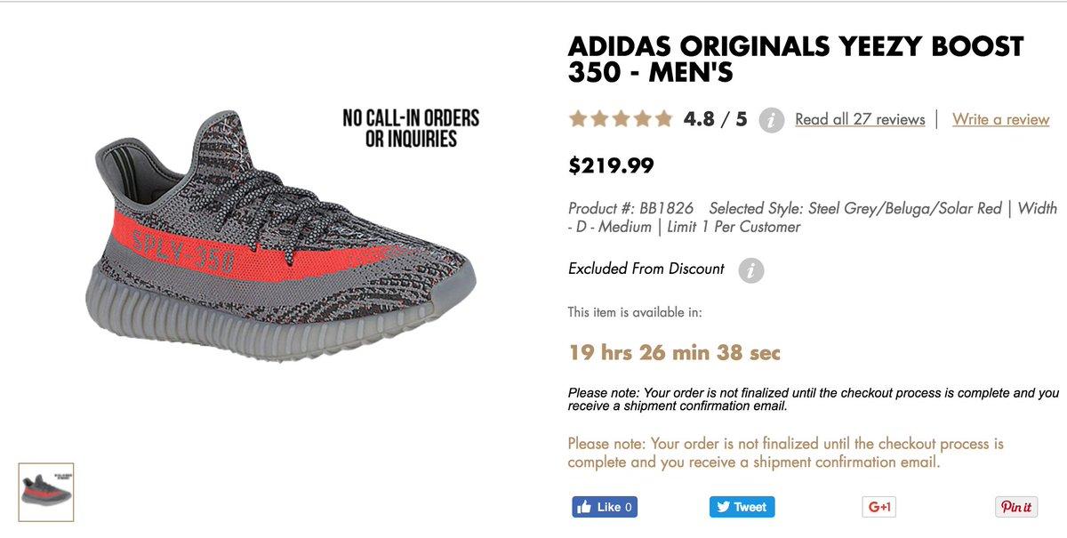 COUNTDOWN via Champs adidas Yeezy Boost 350 V2 http://bit.ly/2cNfi8z  pic.twitter.com/3IwQ6Jv3KP