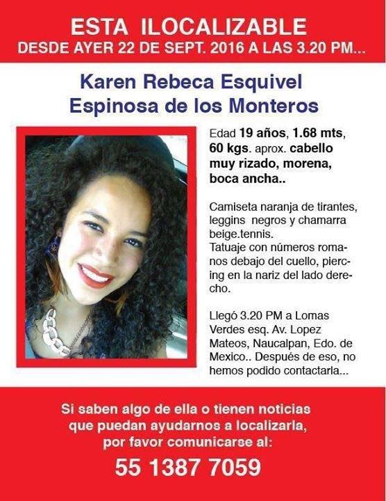 Ayuda a difundir para que Karen, de #UNITECatizapán se reencuentre con su familia. https://t.co/M6GKWpMiNK