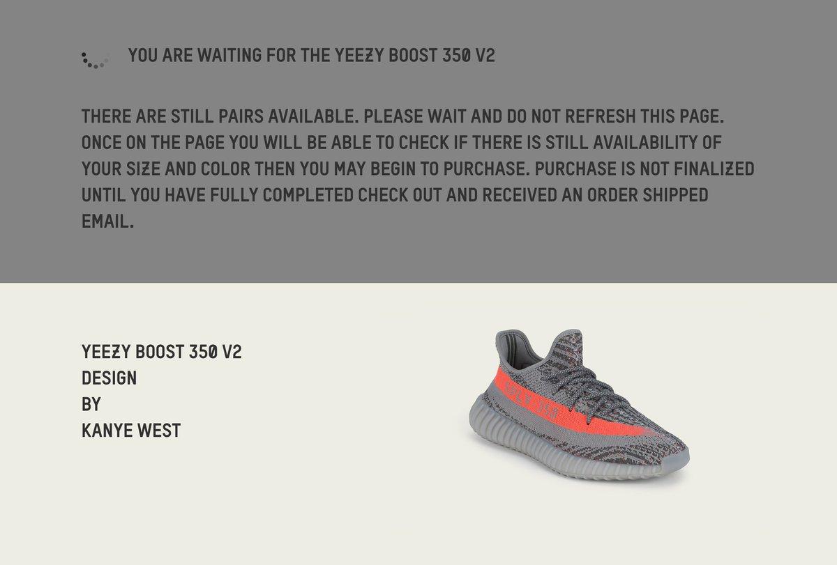 adidas yeezy queue