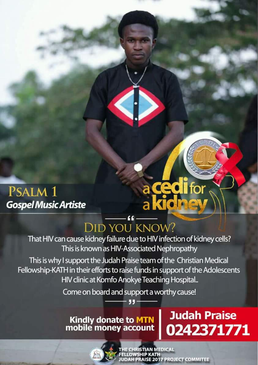 Raising funds in support of the Adolescents HIV clinic inside Okomfo Anokye Teaching Hospital. A Cedi for a Kidney. https://t.co/W94NOX7rTL