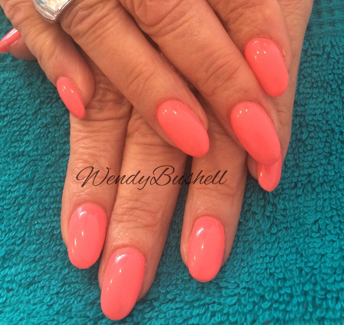 Hot Pink Gel Nail Designs