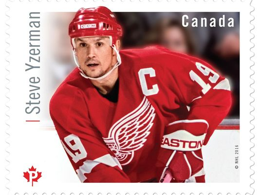 What an honor, eh? .@DetroitRedWings great Steve Yzerman featured on Canadian stamp