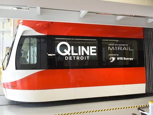 1st completed QLine streetcar unveiled