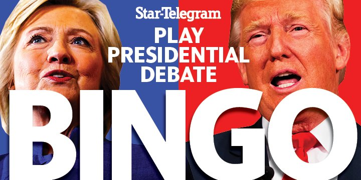 Bingo! Mark the presidential debate with our interactive game