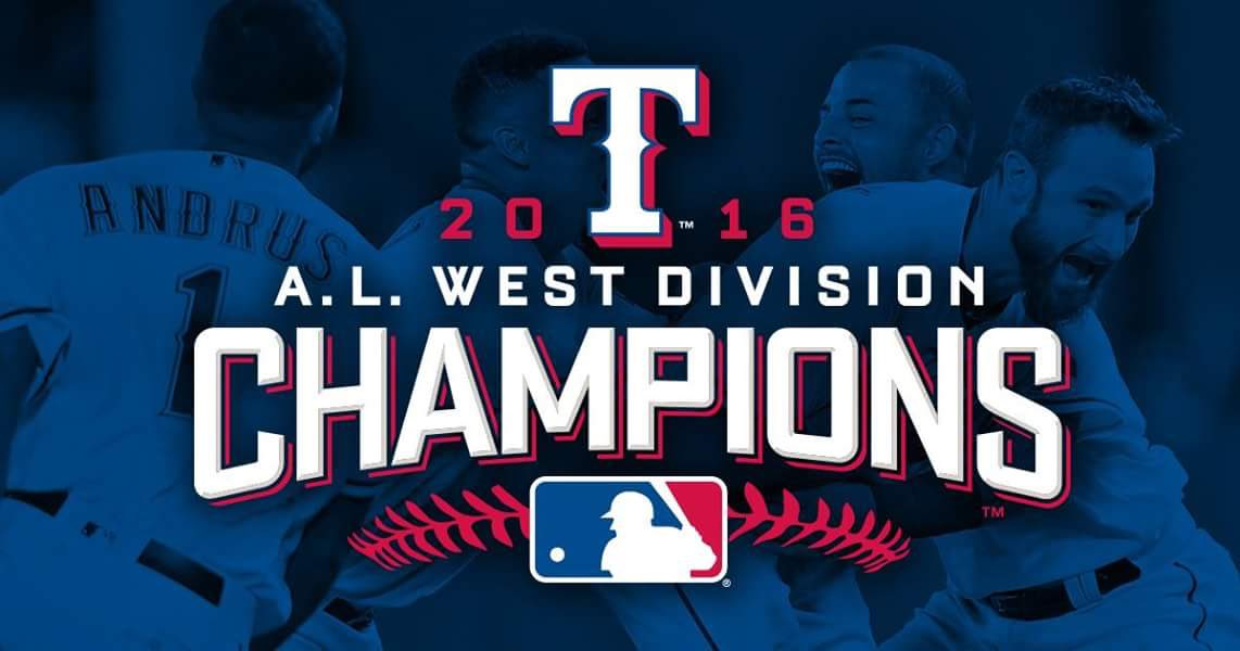 congratulations We wanna congratulate the Texas Rangers organization for winning the west division!!! @Rangers