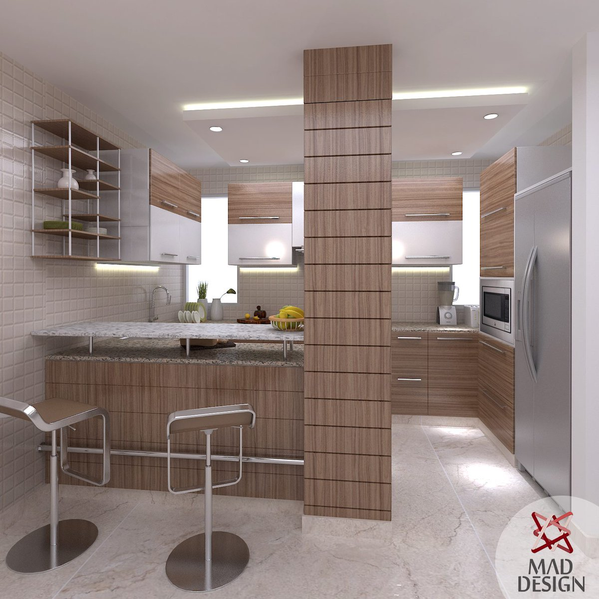 Mad Design On Twitter Modular Kitchen Design With An Extended Breakfast Counter For A Residence At Sarita Vihar Interior Designing Delhi India Https T Co Dglb3h9qey