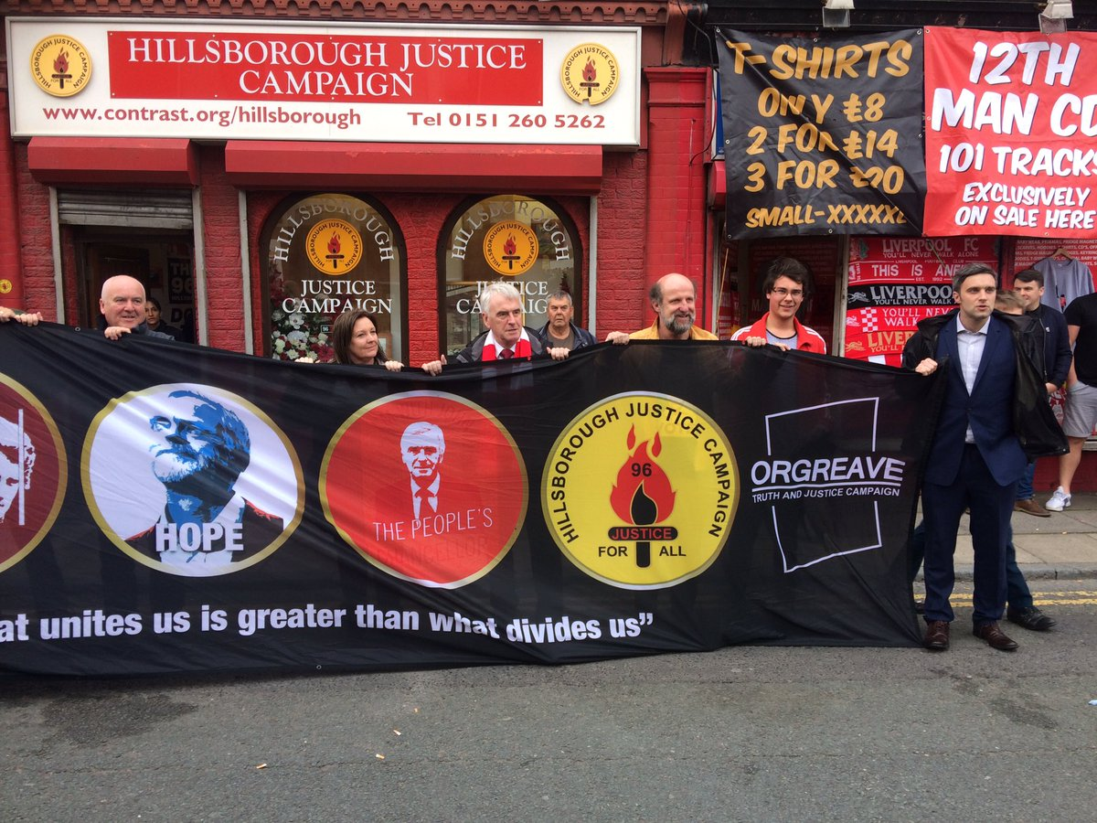 John Mcdonnell is at game in Anfield. But he did this first with supporters outside https://t.co/YotjN3L0V7