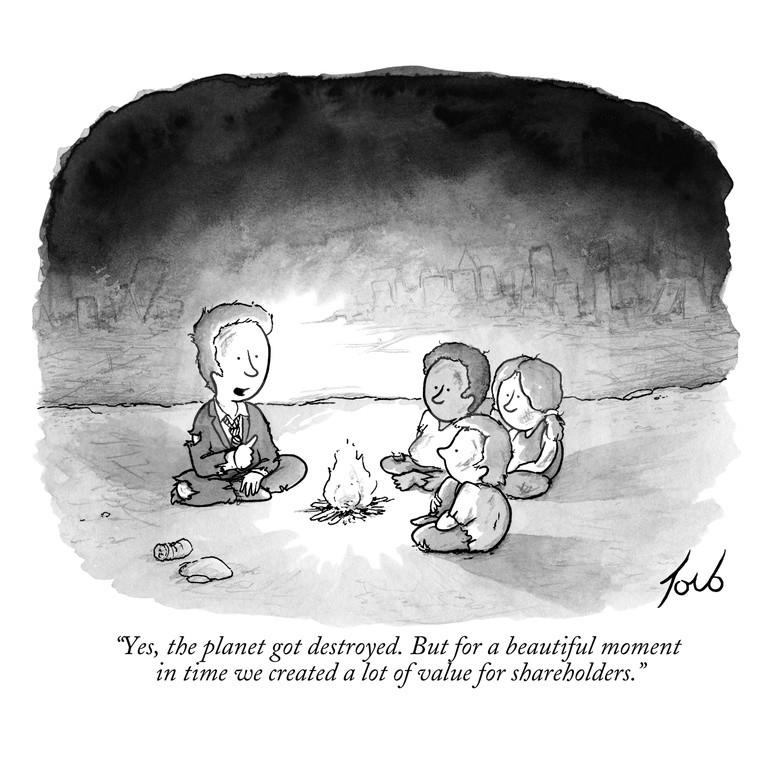 """Yes, the planet got destroyed. But for a beautiful moment in time we created a lot of value for shareholders."" https://t.co/3AKJP4AdrL"