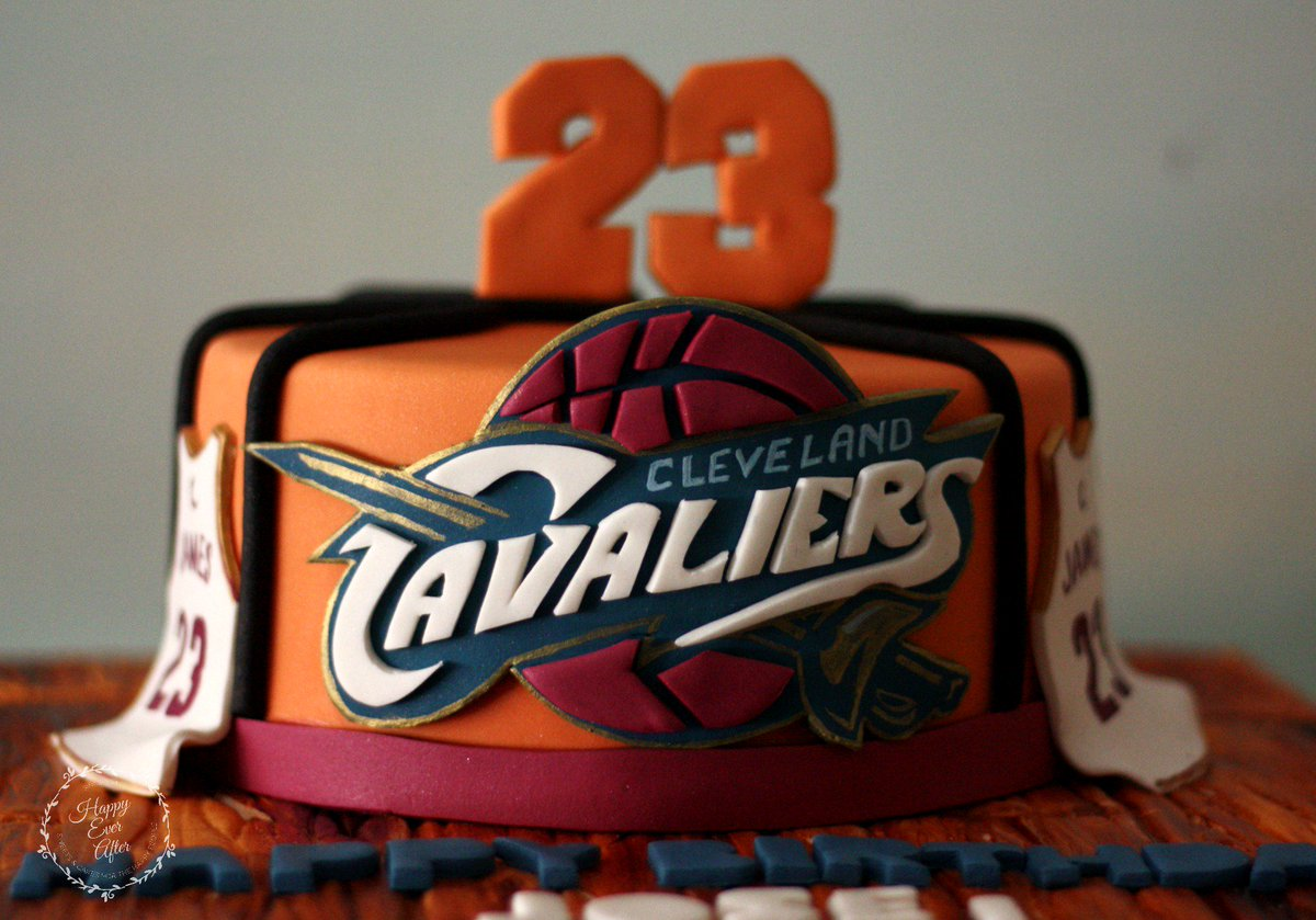 Remarkable Happy Ever After On Twitter Cavs Cake So Fun To Make 3 Cavs Funny Birthday Cards Online Alyptdamsfinfo
