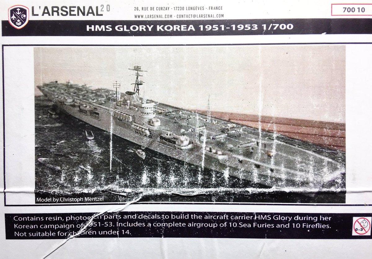 1//700 HMS Glory aircraft carrier Korea 1953
