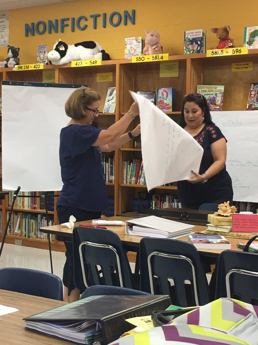 escandon elementary on twitter our rsd teachers working on