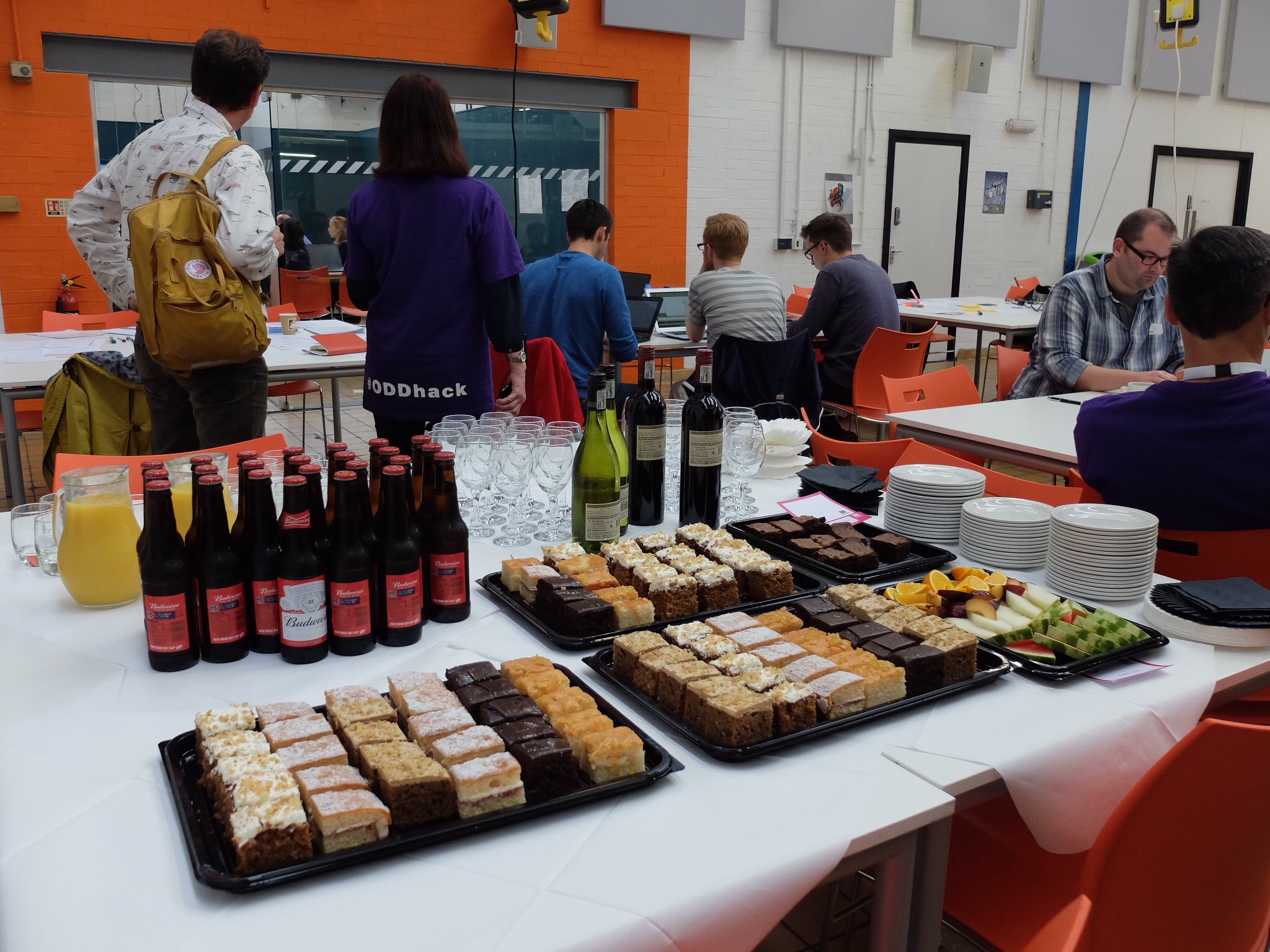 Refreshments have arrived to keep us going for the final stretch of the #UKDSDataDive #ODDhack @UKDataService https://t.co/ZCCwFMFgBC