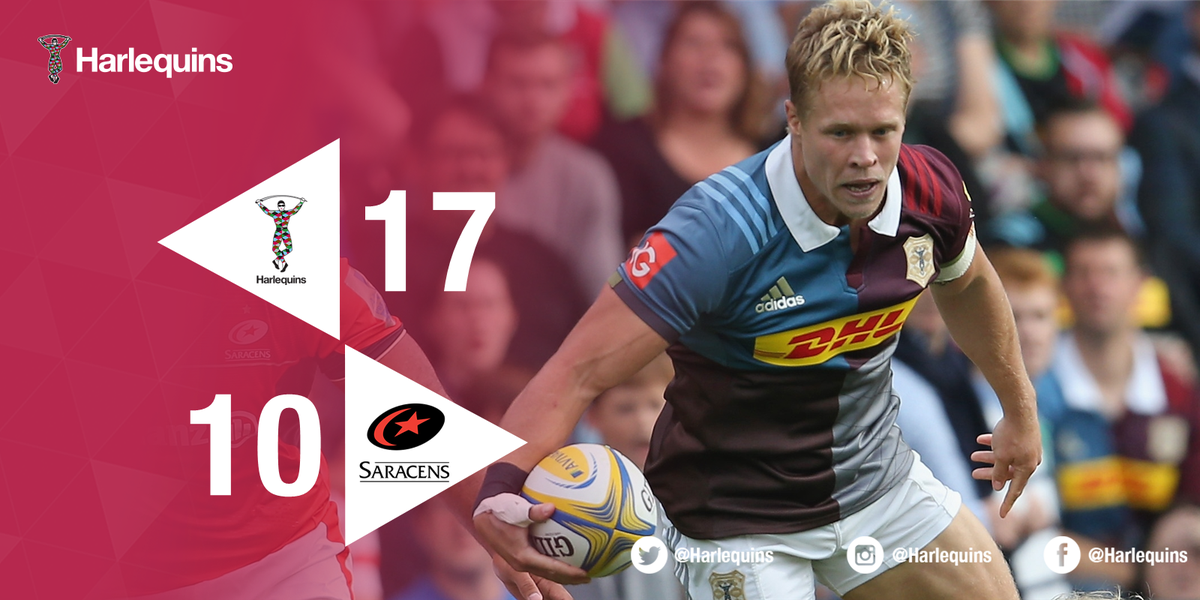 FT | A huge win for Harlequins! Incredible passion, grit and determination to beat their London rivals #COYQ