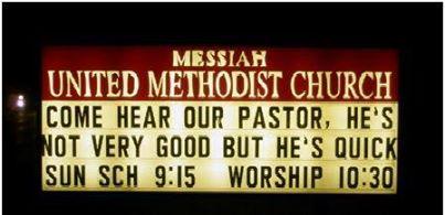 #Church sign of the week - https://t.co/5FZ0JaiLtB