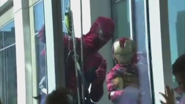 Superheroes drop in on patients at Children's Hospital abc13